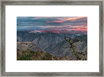 Hells Canyon Sunset 2 Framed Print by Leland D Howard