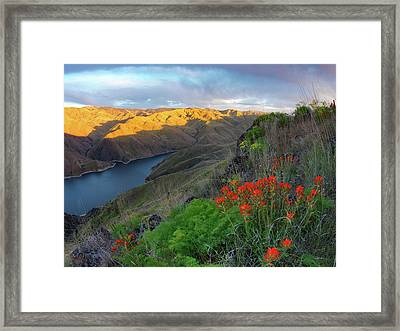 Hells Canyon View Framed Print by Leland D Howard
