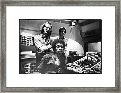 Hendrix, Kramer, & Marron At Electric Framed Print by Fred W. McDarrah