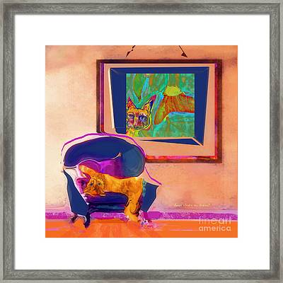 Here's Looking At You Kit Framed Print