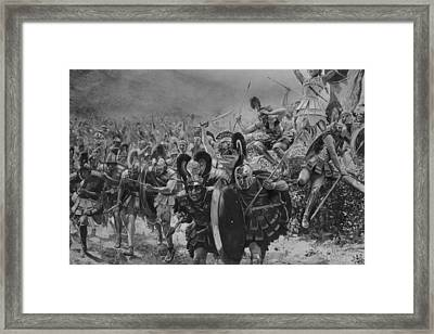 Heroes Of Marathon Framed Print by Hulton Archive