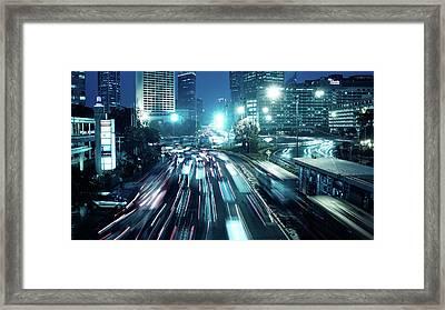 Hi Roundabout Framed Print by Onny Carr