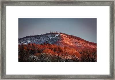 Hibriten Mountain - Lenoir, North Carolina Framed Print