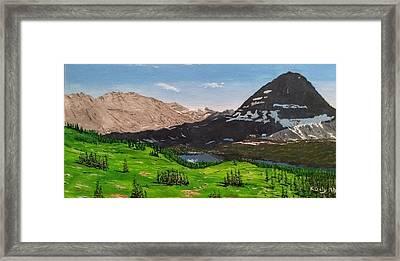 Hidden Lake Pass Framed Print