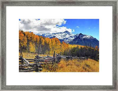 High County Ablaze Framed Print