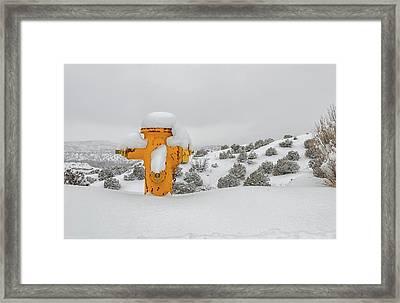 High Desert Hydrant Framed Print