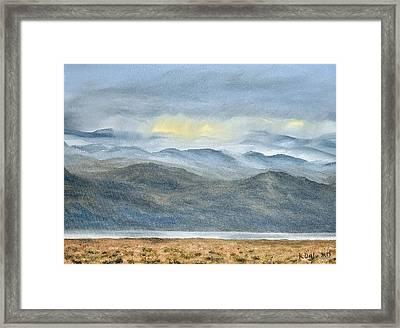 High Desert Morning Framed Print