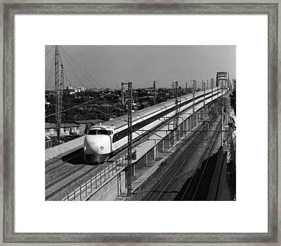 Hikari Train Framed Print by Three Lions