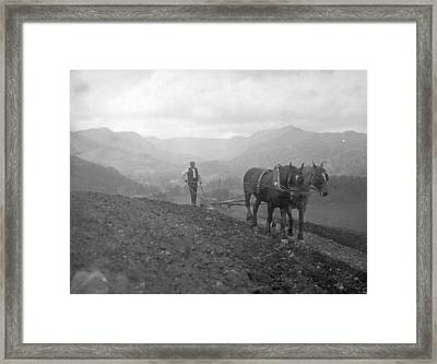 Hill Farmer Framed Print by Walmsley Brothers, Ambleside