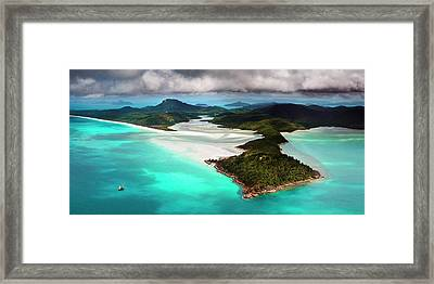 Hill Inlet Framed Print by Bruce Hood