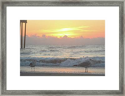 Framed Print featuring the photograph Hint Of Sunrise by Robert Banach