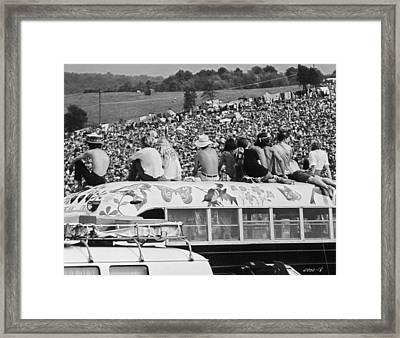 Hippy Bus Framed Print by Archive Photos