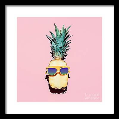 Pink Grapefruit Framed Prints