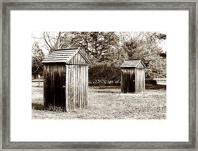 His And Hers Vintage Outhouses Pine Barrens Framed Print