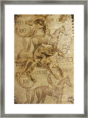 Historic Horse Racing Framed Print