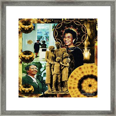 Historic Triumph Of Dr. Abigail Jordan Framed Print by Aberjhani