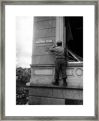 Hitler Undone Framed Print by Central Press