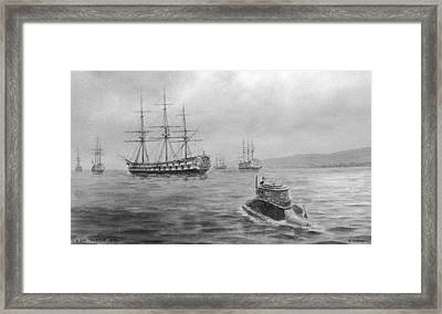 Hms Eagle Framed Print by Fotosearch