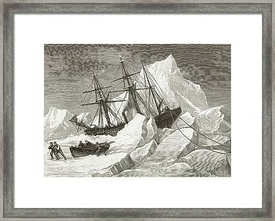 H.m.s. Intrepid Framed Print by Hulton Archive