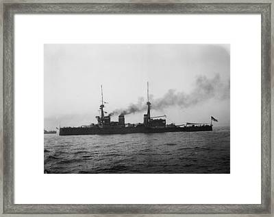 Hms Invincible Framed Print by Topical Press Agency