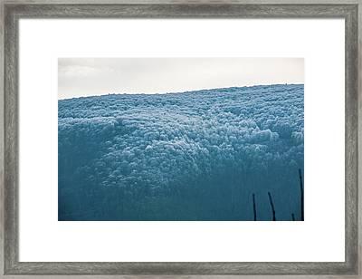 Hoarfrost Blue Mountain Framed Print