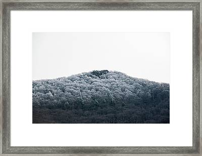 Hoarfrost On The Mountain Framed Print
