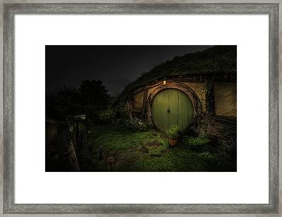 Hobbiton At Night #1 Framed Print