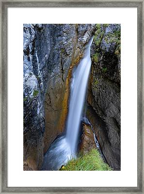 Framed Print featuring the photograph Hoelltobel, Allgaeu Alps by Andreas Levi