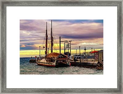 Hokulea Docked Framed Print