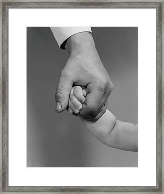 Holding Hands Framed Print by H. Armstrong Roberts