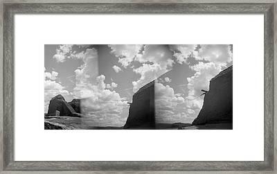 Holga Triptych 3 Framed Print