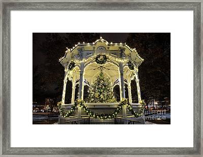 Holiday Lights - Gazebo Framed Print