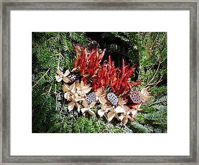 Holiday Peppers Framed Print