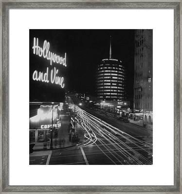 Hollywood And Vine Framed Print
