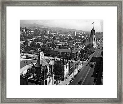 Hollywood Boulevard Framed Print by Keystone