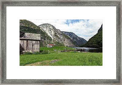 Framed Print featuring the photograph Holmaviki, Norway by Andreas Levi