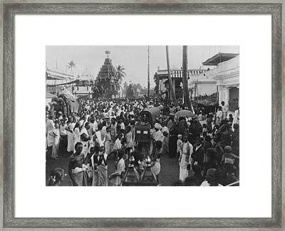 Holy Car Procession Framed Print by Hulton Archive