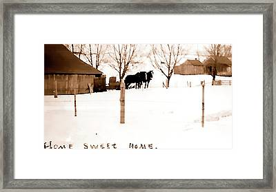 Framed Print featuring the photograph Home Sweet Home 1917 by Jerry Sodorff