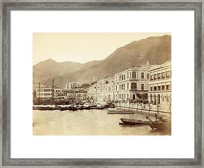 Hong Kong Harbour Framed Print by John Thomson