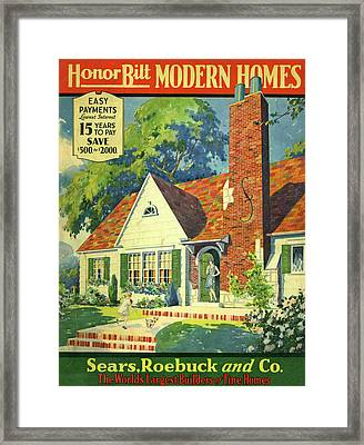 Honor Bilt Modern Homes Sears Roebuck And Co 1930 Framed Print