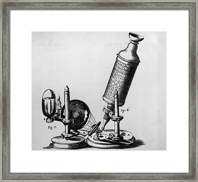 Hookes Microscope Framed Print by Hulton Archive