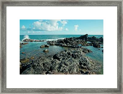 Framed Print featuring the photograph Hookipa Song Of The Sea by Sharon Mau