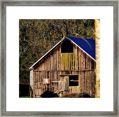 Framed Print featuring the photograph Hopewell Barn by Jerry Sodorff