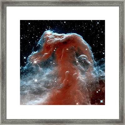 Framed Print featuring the photograph Horsehead Nebula Outer Space Photograph by Bill Swartwout Fine Art Photography