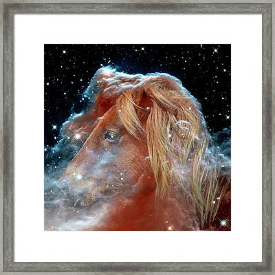 Framed Print featuring the photograph Horsehead Nebula With Horse Head Outer Space Image by Bill Swartwout Fine Art Photography