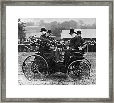 Horseless Vehicle Framed Print by Hulton Archive