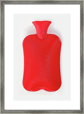 Hot Water Bottle Framed Print by Rolfbodmer