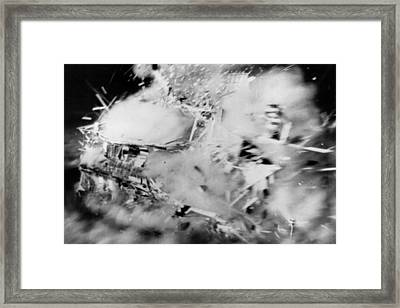 House Disintegrates Framed Print by Keystone
