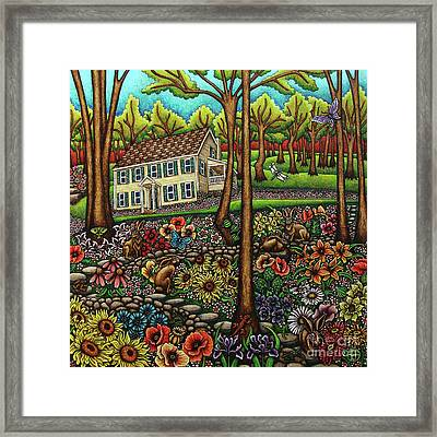 House In The Meadow  Framed Print