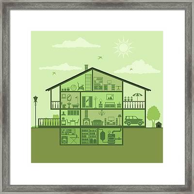 House Interior Framed Print by Alonzodesign